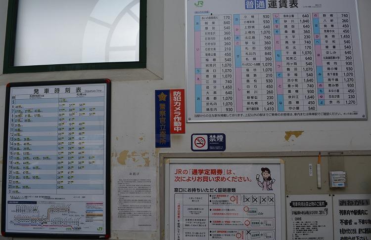 あいの里公園駅から札幌駅